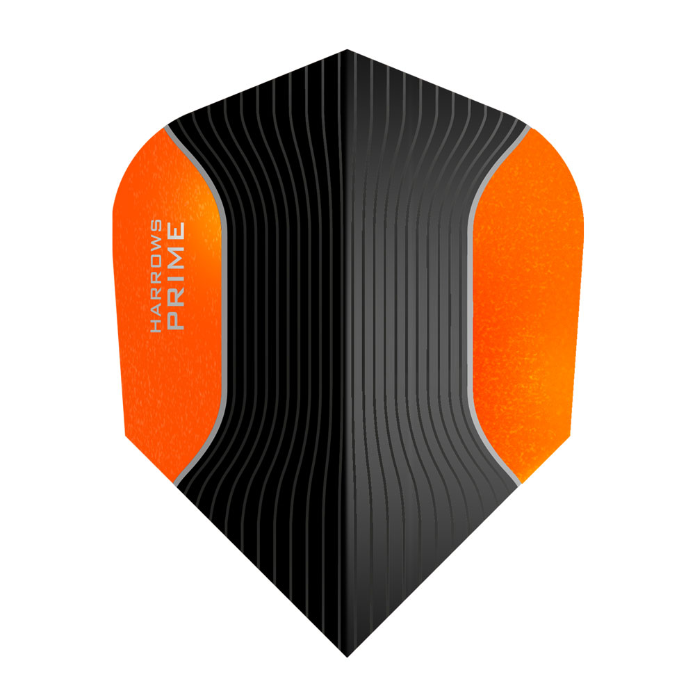 Harrows Black and Orange Prime Standard Dart Flights