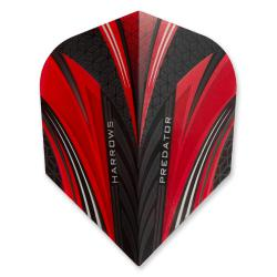 Harrows Prime Predator Red Standard Dart Flights 4114