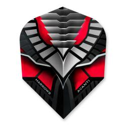 Harrows Avanti Black & Red Dart Flights 4302