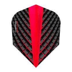Harrows Quantum Black and Red Standard Dart Flights 5663