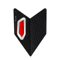 Harrows Velos Black & Red Dart Flights 7320